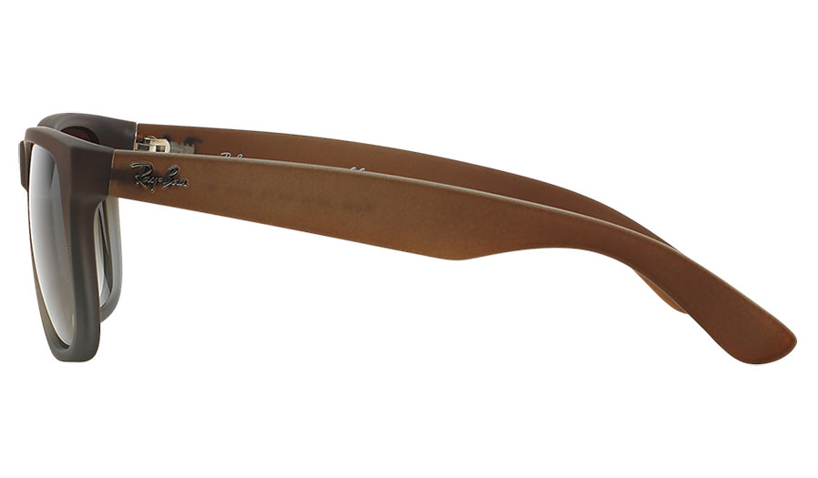 3f10565eaa2fe 1. 2. 3. 4. PrevNext. Ray-Ban RB4165 Justin Sunglasses - Rubber Brown on  Grey   Green Gradient