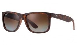 Ray-Ban RB4165 Justin Sunglasses - Tortoise / Brown Gradient Polarised