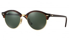 Ray-Ban RB4246 Clubround Sunglasses - Tortoise / Green Classic G-15
