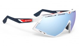 Rudy Project Defender Prescription Sunglasses - Clip-On Insert - White Gloss Fade Stripes / Multilaser Ice