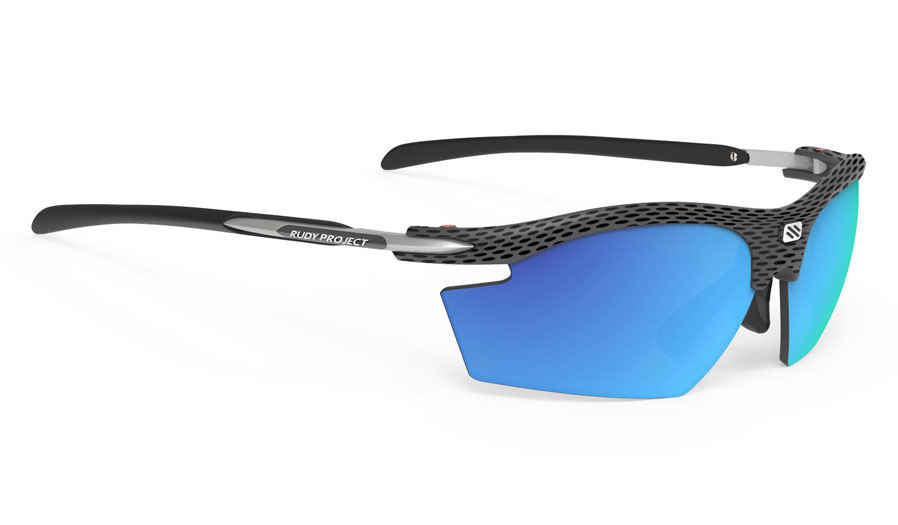 Rudy Project Rydon Prescription Sunglasses - Clip-On Insert - Carbon / Polar 3FX HDR Multilaser Blue