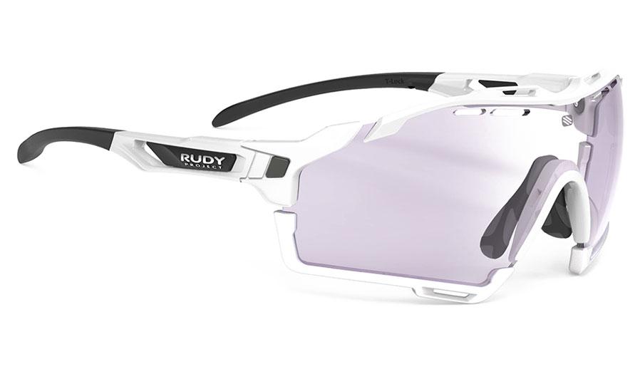 Rudy Project Cutline Sunglasses - White Gloss (Golf Edition) / ImpactX 2 Photochromic Laser Purple