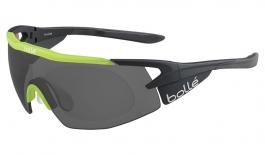 Bolle Aeromax Prescription Sunglasses - Matte Black & Translucent Green