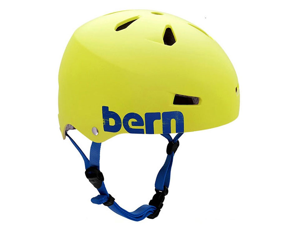 Bern Macon Hard Hat w/ Brock Foam - Matte Neon Yellow