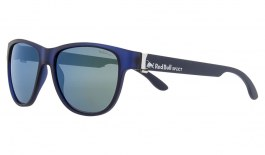 Red Bull Wing 3 Sunglasses - Matte Transparent Dark Blue / Smoke Green Mirror Polarised