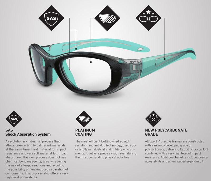 3b6cbad010 Bolle Baller Prescription Glasses - Sport Protective Eyewear - RxSport