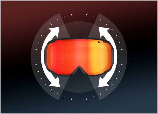 Anon Goggles Frame Technology - Wall-to-Wall Vision