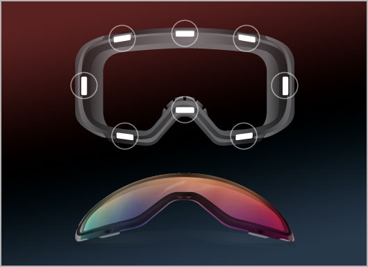 Anon Goggles Lens Technology - Magna-Tech Quick Lens Change Technology