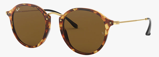 Ray-Ban RB2447 Round Fleck Sunglasses