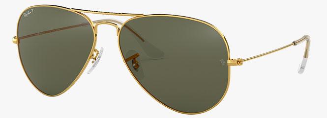 Ray-Ban RB3025 Aviator Large Metal Sunglasses