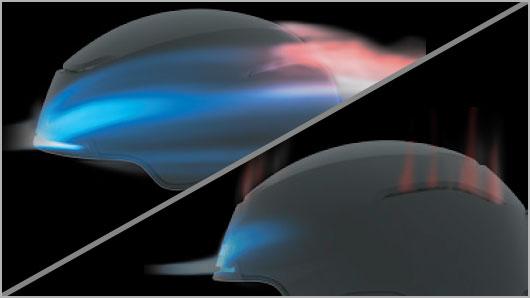 Giro Helmet Technology - Passive Aggressive Venting System