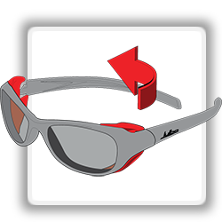 Julbo Frame Technology - Removable Side Shields