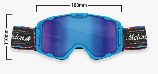Melon Goggles - Melon Parker Frame Dimensions