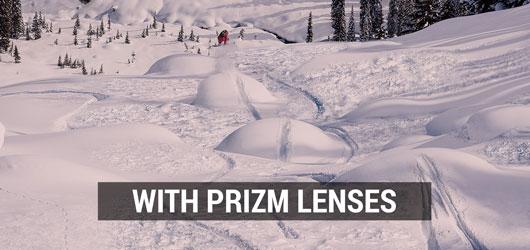 Oakley Ski Goggles - Prizm Snow Lens Comparison - Without Prizm Lenses
