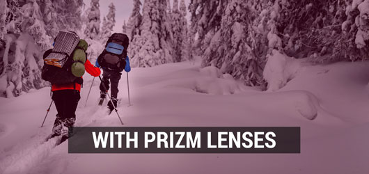Oakley Ski Goggles - Prizm Snow Lens Comparison - Without Prizm Lenses