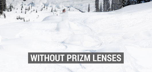 Oakley Ski Goggles - Prizm Lens Comparison - Without Prizm Lenses