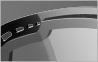 Double lens with spacer foam