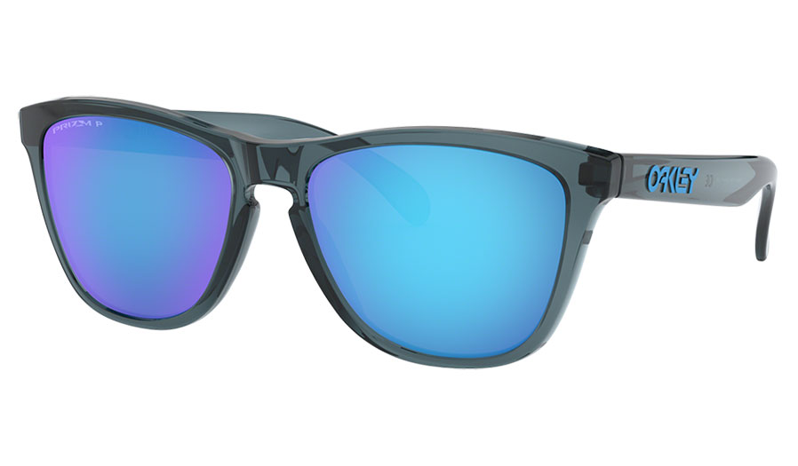 Oakley Frogskins Sunglasses - Crystal Black / Prizm Sapphire Polarised