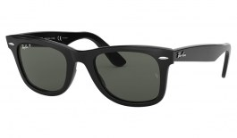 Ray-Ban RB2140 Original Wayfarer Sunglasses - Black / Green Polarised