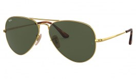 Ray-Ban RB3689 Sunglasses - Gold /Green