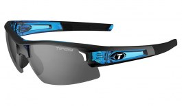 Tifosi Synapse Sunglasses - Crystal Blue / Smoke + AC Red + Clear