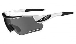 Tifosi Alliant Sunglasses - White & Black / Smoke + AC Red + Clear