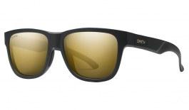 Smith Lowdown Slim 2 Sunglasses - Matte Black Gold / ChromaPop Black Gold Polarised