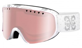 Bolle Scarlett Ski Goggles - Shiny White Night / Vermillon Gun