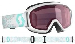 Scott Jr Witty Ski Goggles - White & Mint Green / Enhancer