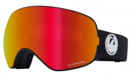 Dragon X2S Prescription Ski Goggles - Black / LumaLens Red Ion + LumaLens Rose