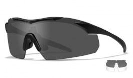 Wiley X Vapor Prescription Sunglasses - Clip-On Insert - Matte Black / Smoke Grey + Clear