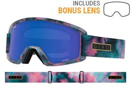 Giro Dylan Prescription Ski Goggles - Bleached Out / Grey Cobalt + Yellow