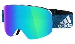 adidas ad80 Backland Ski Goggles - Shiny White / Blue Mirror