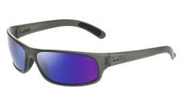 Bolle Anaconda Sunglasses - Matte Crystal Grey / Brown Blue