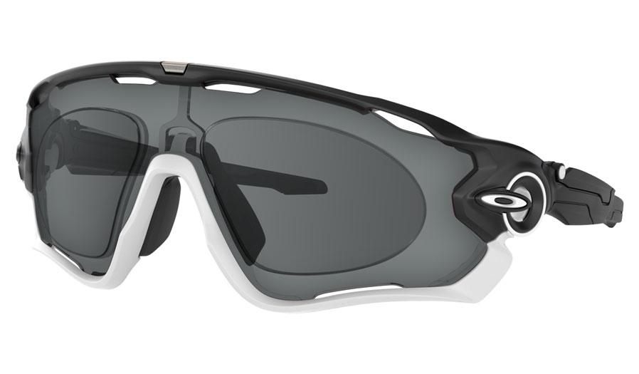 Oakley Jawbreaker Prescription Sunglasses - Matte Black (Matte White Icon)