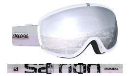 Salomon iVY Ski Goggles - White Flower / Universal White Super Silver Mirror