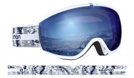 Salomon iVY Ski Goggles - White Glitch / Sigma Sky Blue
