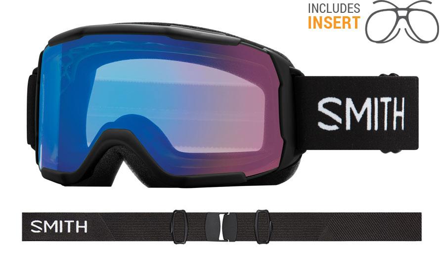 Smith Optics Showcase Prescription Ski Goggles - Black / ChromaPop Storm Rose Flash