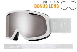 Smith Optics Riot Ski Goggles - White Vapor / ChromaPop Sun Platinum Mirror + Yellow