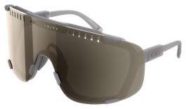 POC Devour Sunglasses - Moonstone Grey / Clarity Trail Brown with Silver Mirror + Clear