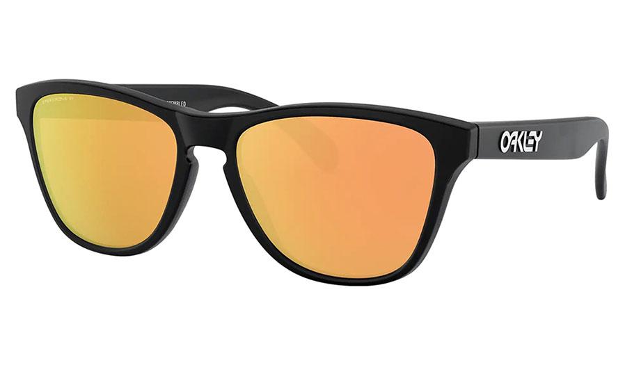 Oakley Frogskins XS Sunglasses - Matte Black / Prizm Rose Gold Polarised