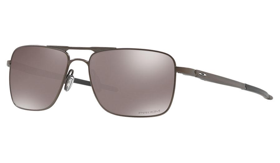 Oakley Gauge 6 Titanium Sunglasses - Pewter / Prizm Black Polarised