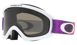 Oakley O Frame 2.0 XS Ski Goggles - Pixel Fade Iron Rose / Dark Grey