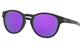Oakley Latch Sunglasses - Matte Black / Prizm Violet
