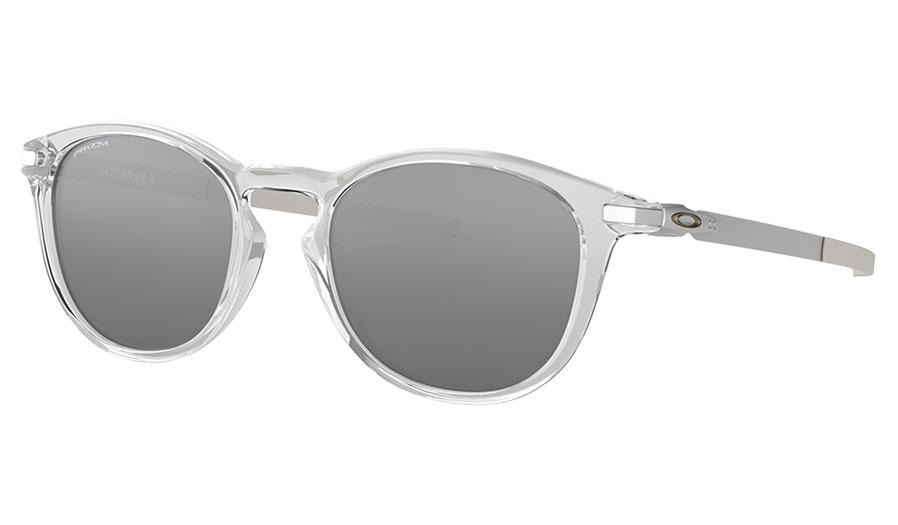 Oakley Pitchman R Sunglasses - Polished Clear / Prizm Black