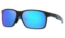 Oakley Portal X Sunglasses - Polished Black / Prizm Sapphire