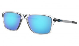 Oakley Wheel House Sunglasses - Polished Clear / Prizm Sapphire