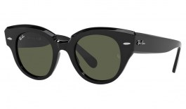 Ray-Ban RB2192 Roundabout Sunglasses - Black / Green