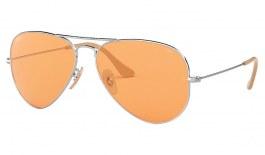 Ray-Ban RB3025 Aviator Sunglasses - Silver / Evolve Orange Photochromic