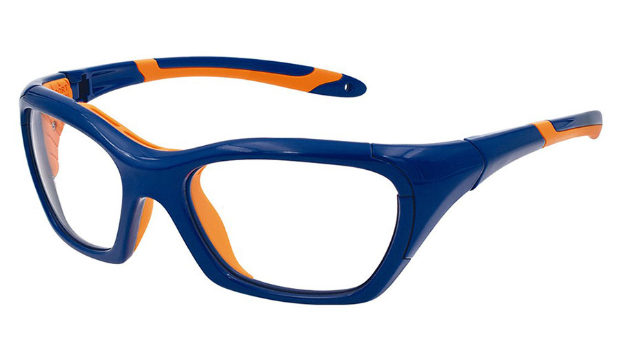 d32882127a38 VerSport Hercules EVO Glasses - Navy   Orange   Clear - RxSport